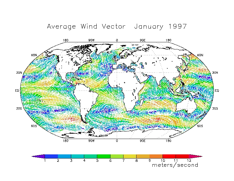 Monthly average global wind map jan1997 publicscrutiny Images